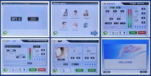 NewAge E-light + SHR szőrtelenítő + RF bőrfeszesítő, kezelőfelület